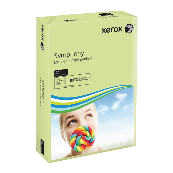 Xerox Symphony A4 Pastel Green 160gsm Card (Pack of 250) XX93226