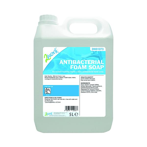 Hand Soaps & Dispensers 2Work Antibacterial Foam Soap 5 Litre 2W01073