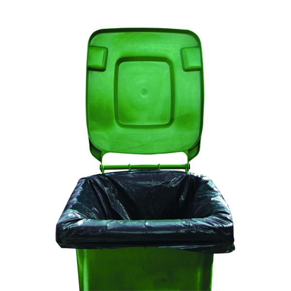 Bin Bags & Liners 2Work Medium Duty Wheelie Bin Liner Black (100 Pack) 2W01167