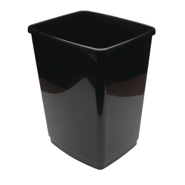 Rubbish Bins 2Work Swing Bin Base 50 Litre Black 2W02381