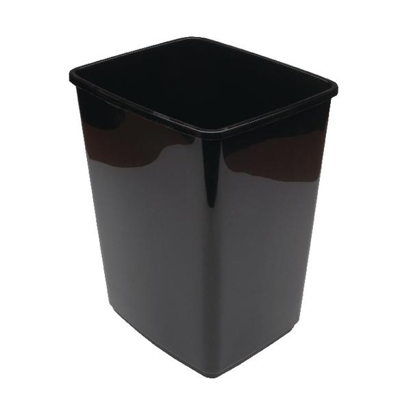 Rubbish Bins 2Work Swing Bin Base 10 Litre Black 2W02385