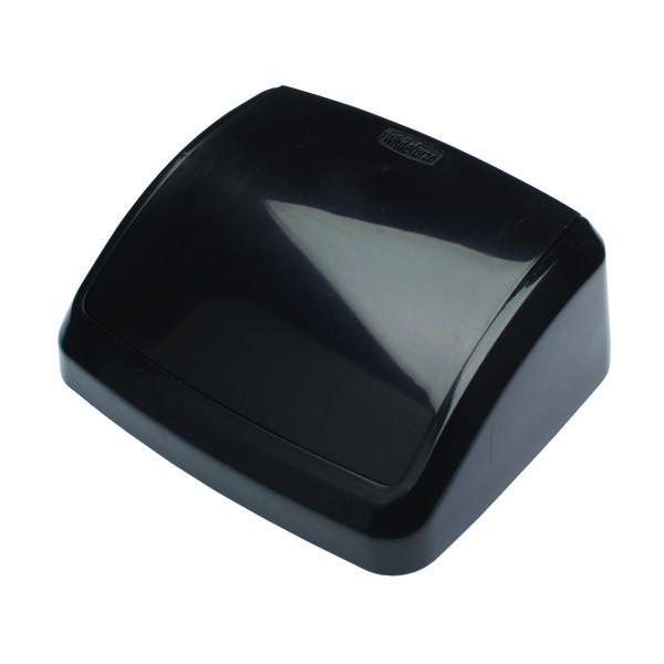 Rubbish Bins 2Work Swing Bin Lid 10 Litre Black 2W02396