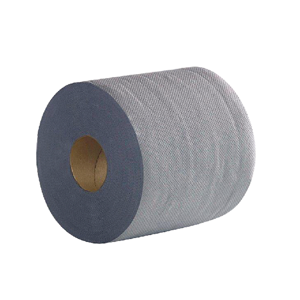 2Work 2-Ply Centrefeed Roll 100m Blue (6 Pack) 2W03010