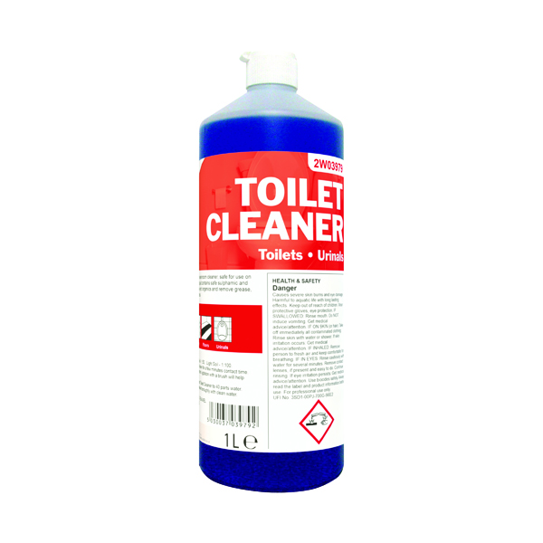 Cleaning Chemicals 2Work Daily Use Toilet Cleaner 1 Litre 2W03979