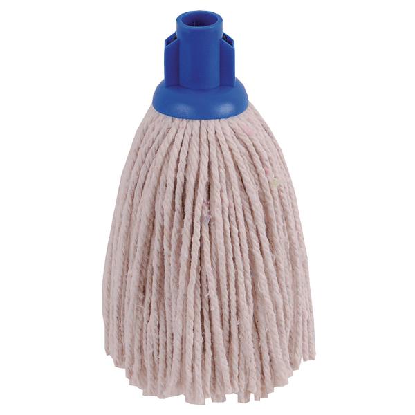 Mops & Buckets 2Work 12oz PY Smooth Socket Mop Blue (10 Pack) PJYB1210I