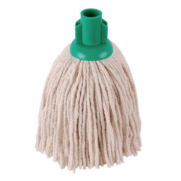 Mops & Buckets 2Work 12oz PY Smooth Socket Mop Green (10 Pack) PJYG1210I