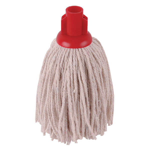 Mops & Buckets 2Work 12oz PY Smooth Socket Mop Red (10 Pack) PJYR1210I