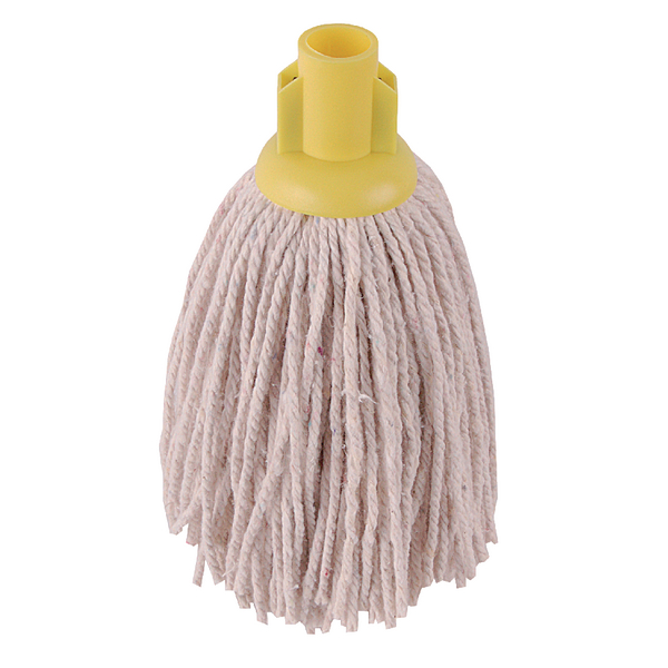 Mops & Buckets 2Work 12oz PY Smooth Socket Mop Yellow (10 Pack) 101869