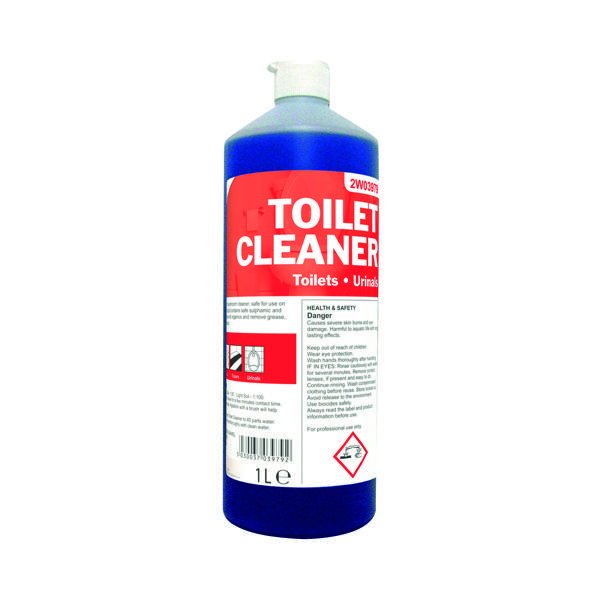 Cleaning Chemicals 2Work Daily Use Toilet Cleaner 1 Litre (12 Pack) 2W04577