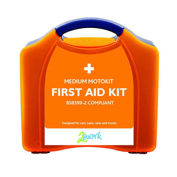 2Work Motokit Vehicle First Aid Box Medium B28599-2 X6070