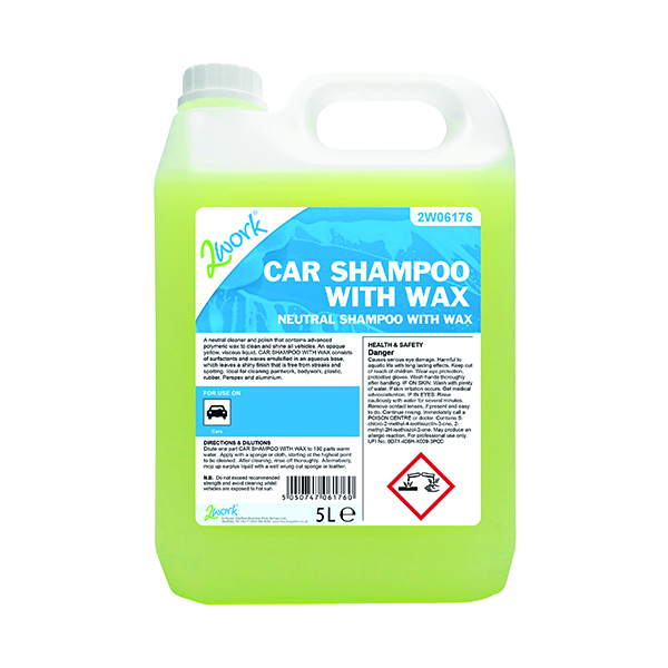 Cleaning Chemicals 2Work Car Shampoo with Wax 5L 447