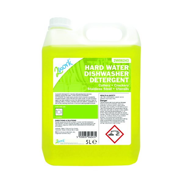 Cleaning Chemicals 2Work Hard Water Dishwasher Detergent 5 Litre 2W06243