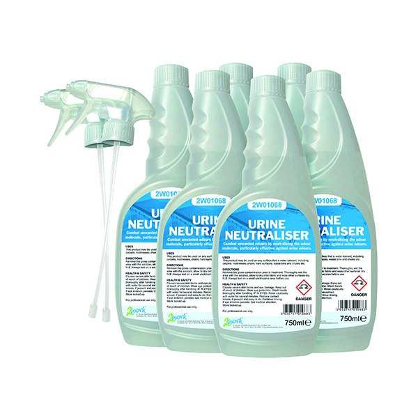 Cleaning Chemicals 2Work Urine Neutraliser 750ml (6 Pack) 208