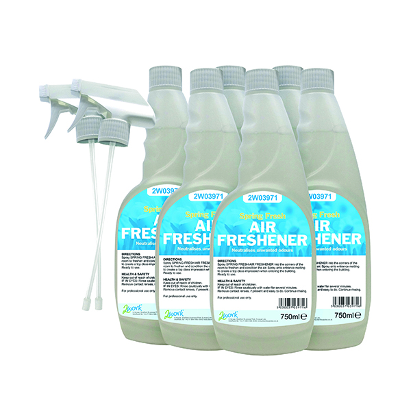 2Work Air Freshener Trigger 750ml (6 Pack) 812