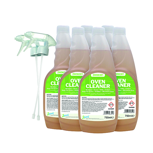 Cleaning Chemicals 2Work Oven Cleaner 750ml (6 Pack) 364