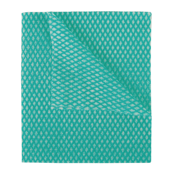 2Work Economy Cloth 420x350mm Green (50 Pack) 104420GREEN