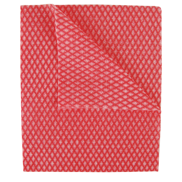 2Work Economy Cloth 420x350mm Red (50 Pack) 104420RED
