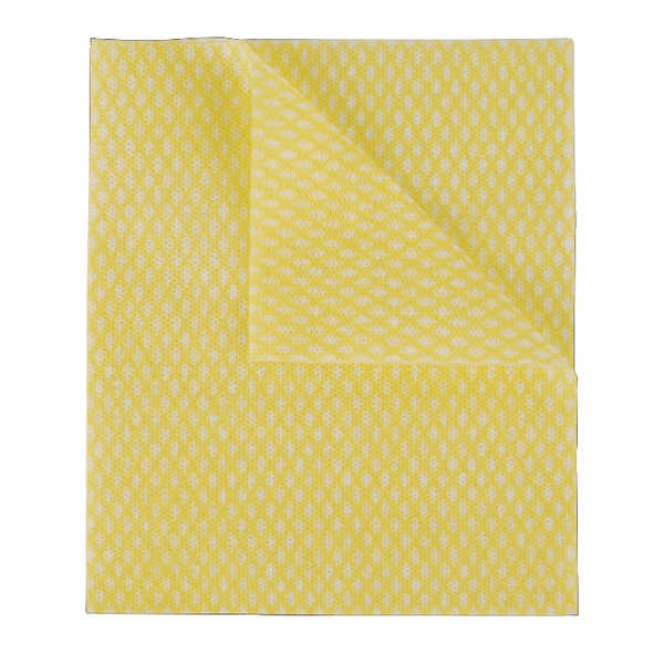 2Work Economy Cloth 420x350mm Yellow (50 Pack) 104420YELLOW