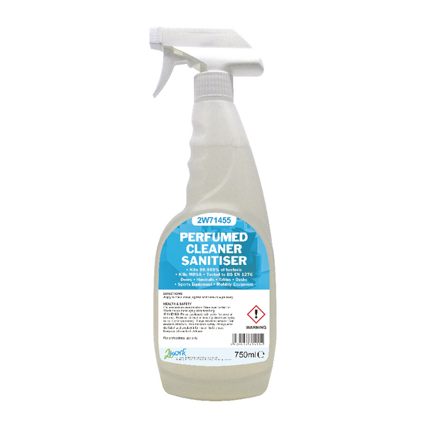 Cleaning Chemicals 2Work Perfumed Spray Wipe Sanitiser 750ml 2W71455