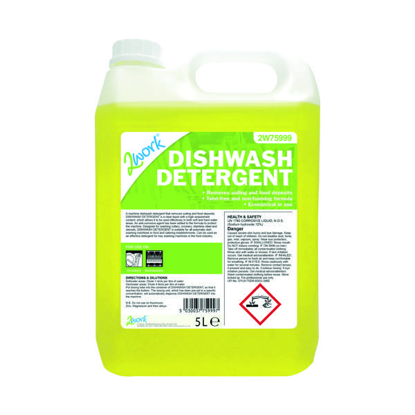 Cleaning Chemicals 2Work Dishwasher Detergent 5 Litre 2W75999