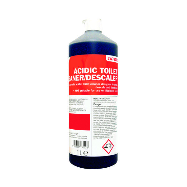 Cleaning Chemicals 2Work Acidic Toilet Cleaner 1 Litre 501