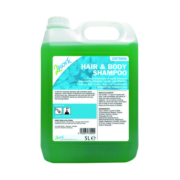 Floor Cleaning 2Work Hair and Body Wash 5 Litre 416