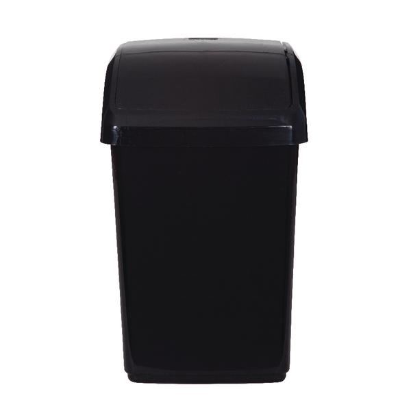 Rubbish Bins 2Work Swing Top Bin 10 Litre Black RB02385