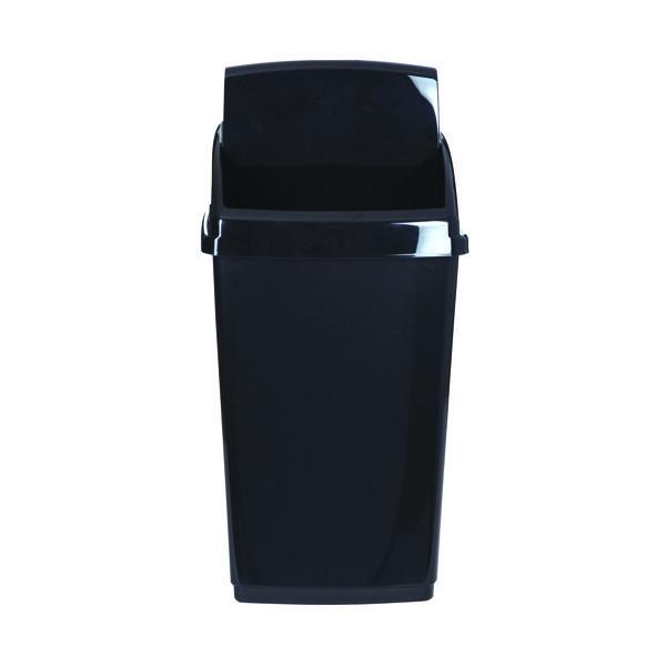 Rubbish Bins 2Work Swing Top Bin 30 Litre Black RB02383