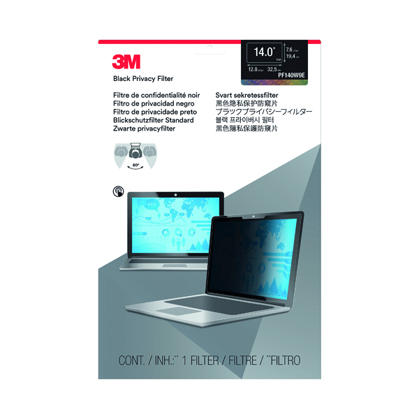 3M Privacy Filter for Edge-to-Edge 14.0in Widescreen Laptop PF140W9E