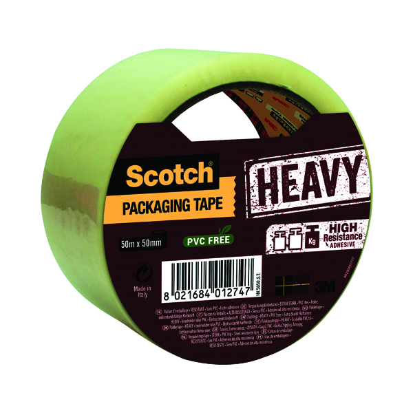 Scotch Packaging Tape Heavy 50mmx50m Clear HV.5050.S.B
