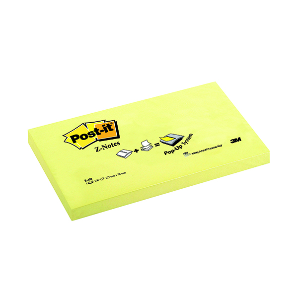 Z Notes Post-it Z-Notes 76x127mm Canary Yellow (12 Pack) R350Y