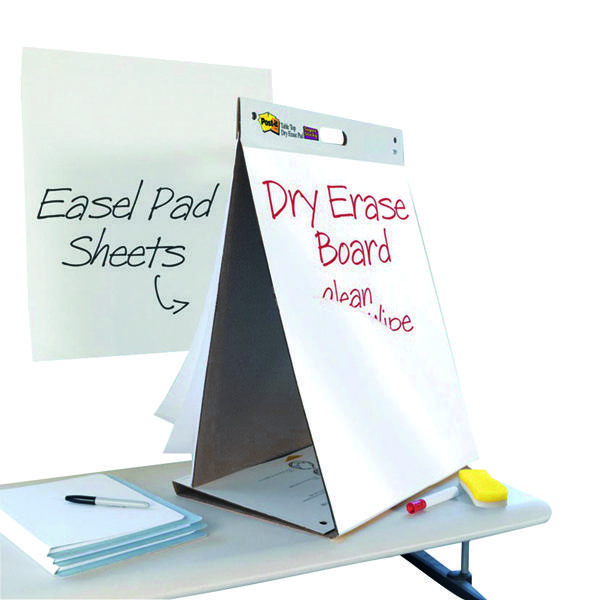 Pads Post-it Super Sticky Table Top Easel Pad/Dry Erase Board 563-D3