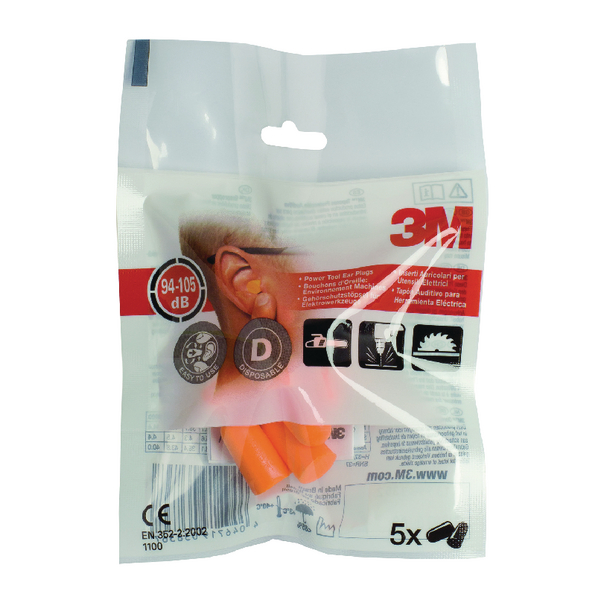 3M Ear Plugs 1100 94-105dB XA004837911