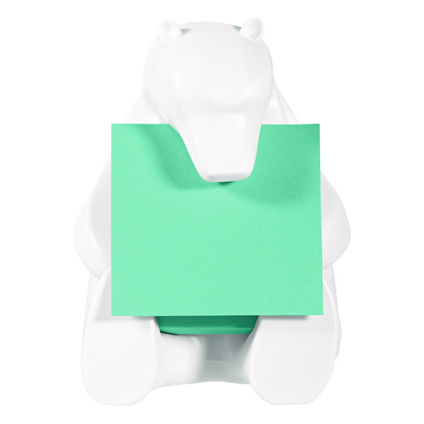 Post-it Z-Note Dispenser Bear Design inc (1 Pack) Post-it Super Sticky Z-Notes 76 x 76mm BEAR-330