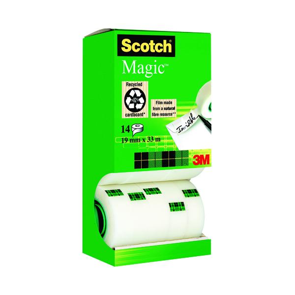 18/19mm Scotch Magic Tape 810 Tower Pack 19mm x 33m (14 Pack) 81933R14