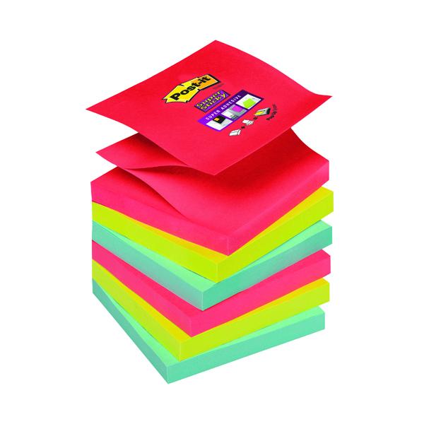Super Sticky Post-it Super Sticky Z-Notes 76 x 76mm Bora Bora (6 Pack) 70-0051-9784-6