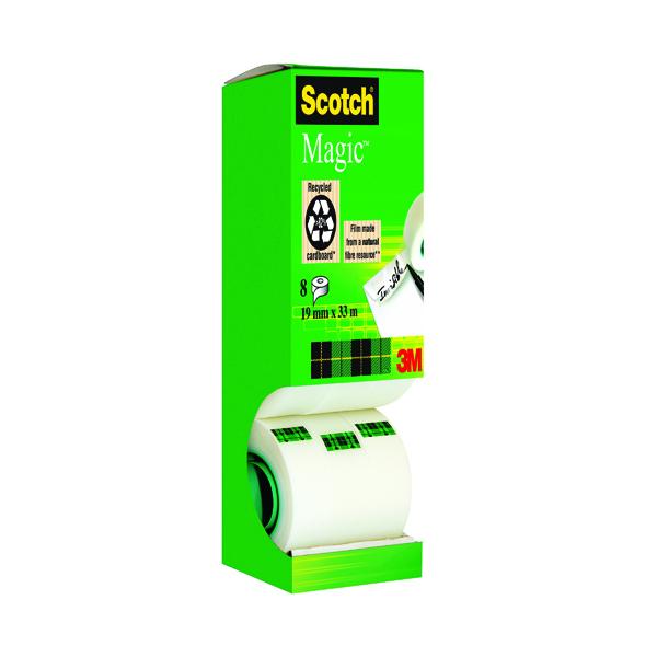Scotch Magic Tape 810 Tower Pack 19mm x 33m (8 Pack) 8-1933R8