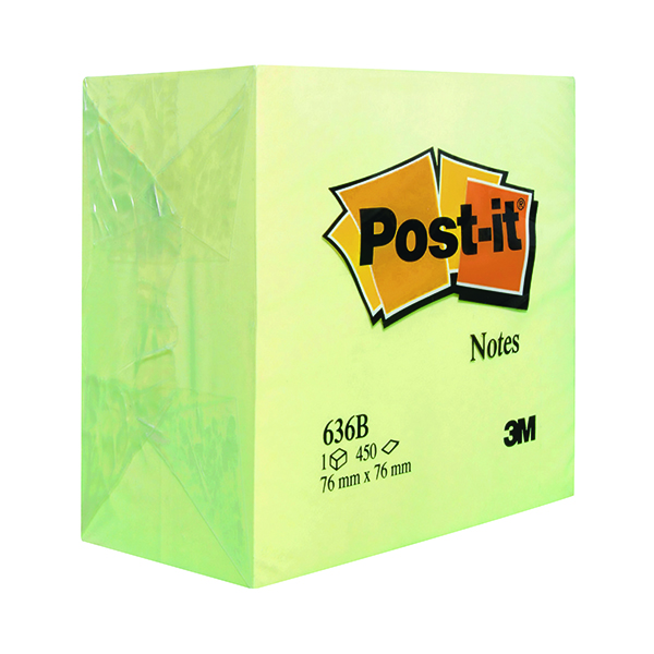 Shapes & Cubes Post-it Note Cube 76 x 76mm Canary Yellow 636B