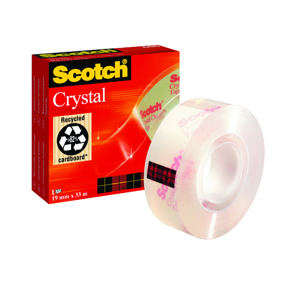 18/19mm Scotch Crystal Tape 19mm x 33m 600