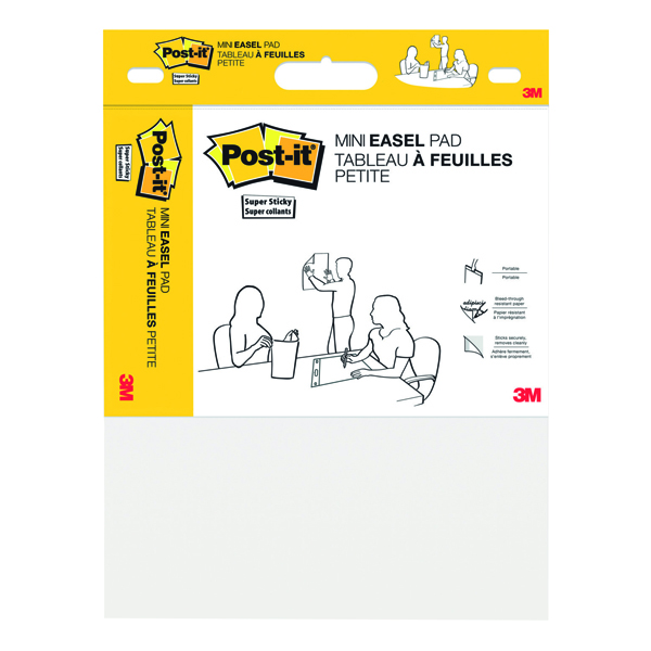 Unspecified Post-It Super Sticky Mini Meeting Chart 381mm x 457mm White 577SS