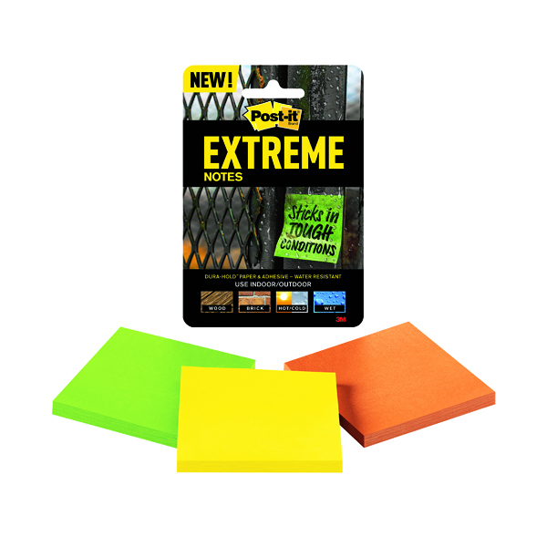 Colour Standard Sizes Post-it Notes Extreme 76 x 76mm Assorted (3 Pack) EXT33M-3-UKSP