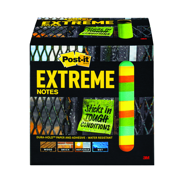 Colour Standard Sizes Post-it Notes Extreme 76 x 76mm Assorted (12 Pack) EXT33M-12-UKSP