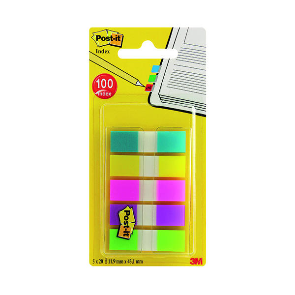Tabs Post-it Portable Small Index 12mm Assorted (100 Pack) 683-5CBINDEX