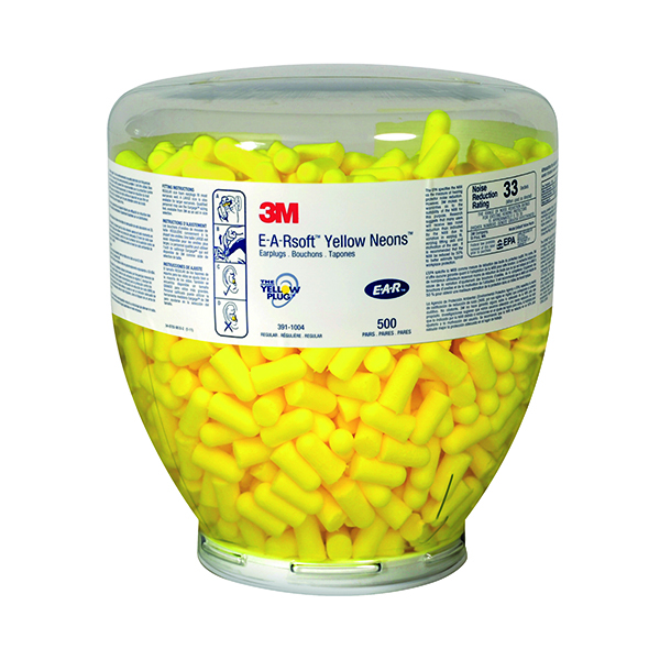 3M E-A-R Soft Yellow Neons Refill Bottle (500 Pack) PD-01-002