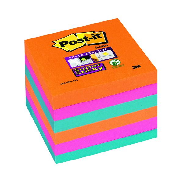Super Sticky Post-it Super Sticky Notes 76x76mm Bangkok (6 Pack) 654-6SS-EG