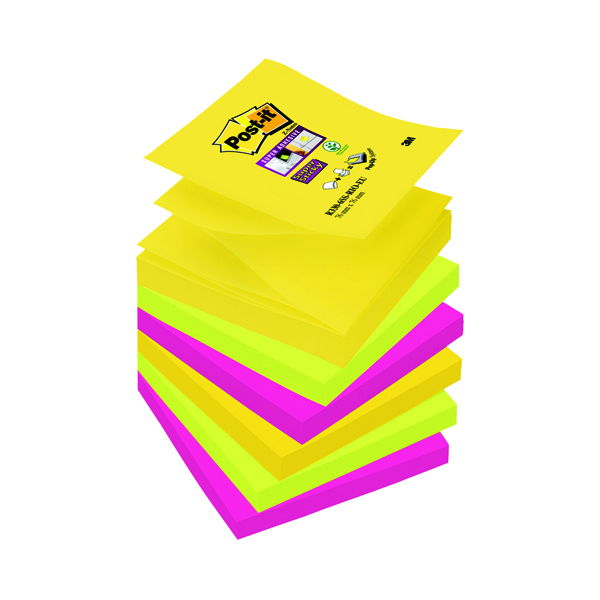 Z Notes Post-it Super Sticky Z-Notes 76 x 76mm Rio (6 Pack) R330-6SS-RIO-EU