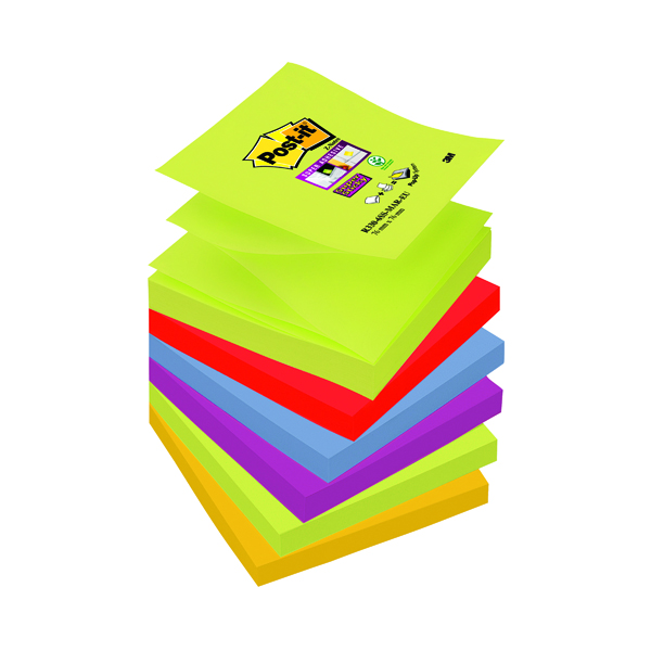 Z Notes Post-it Super Sticky Z-Notes 76 x 76mm Marrakesh (6 Pack) R330-6SS-MAR-EU
