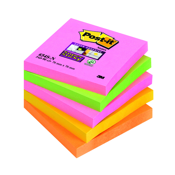 Post-it Notes Super Sticky 76 x 76mm Cape Town (5 Pack) 654-SN