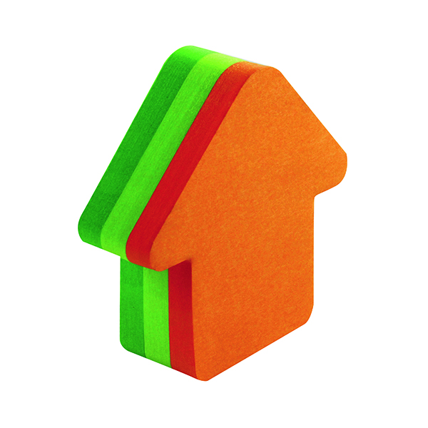 Shapes & Cubes Post-it Notes 70 x 70mm Arrow Neon Orange and Green (12 Pack) 3M34983