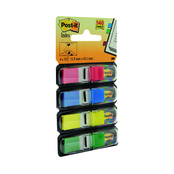 Tabs Post-it Small Index 12mm Standard Colours (140 Pack) 683-4